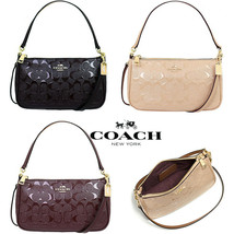 Coach F56518 Top Handle Pouch Patent Leather Cross Body Bag - $98.99+