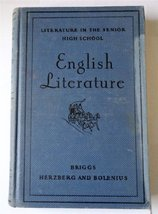 English Literature (Literature in the Senior High School) [Hardcover] briggs, th