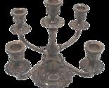 Sheffield silverplate five arm candelabra thumb155 crop