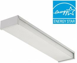 Lithonia Lighting 3324 2-Light White Fluorescent Flushmount Fixture - $42.48