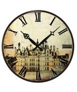 Wall Clock Round Vintage Retro Art Design Roman Number Living Room Home ... - $17.67