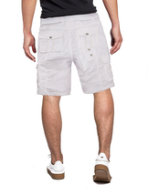 Men's Belted Casual Cotton Multi Pocket Cargo Shorts With Metal Embellishments image 6