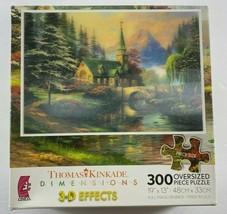 New Thomas Kinkade 300 Oversized Pcs 3-D Jigsaw Puzzle Dogwood Chapel - $29.69