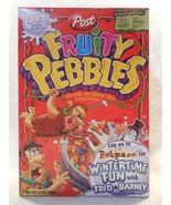 Flintstones 2003 Post Fruity Pebbles Unopened Cereal Box Wintertime Fun - $7.95