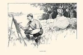 Wasting Time by Charles Dana Gibson - Art Print - $19.99+