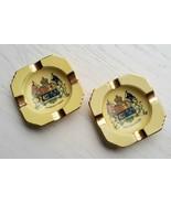 Set 2 Royal Winton Grimwades Ashtray Canada Canadian Seal Gilt Luster Go... - $14.84