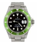 2008 UNPOLISHED Rolex Submariner Kermit Z Green 50th Anniversary 16610 L... - $11,793.11