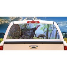 Turkey Shadows Rear Window Mural, Decal, or Tint for rear window in Truck, RV, C - $77.99
