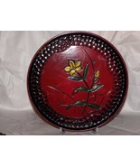 Made in Japan Serving Tray Flowered with Reverse Cobblestone Boarder. 9 ... - $14.36