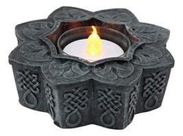 Ebros Beautiful Celtic Flower Floral Knotwork Symbol Tea Light Candle Holder Fig - $17.99
