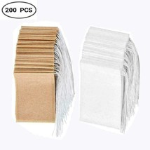 Disposable Tea Filter Bags Set of 200, Single-Use Paper Bag with... - $14.68