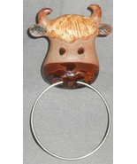 Vintage 1960s/70s Stoneware UCTCI - JAPAN Wall Hanging BULL w/RING IN NOSE - $22.76