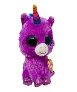 "TY Beanie Boos ROSETTE Purple Unicorn Plush 6"" Stuffed Animal Multi Glit... - $9.50"