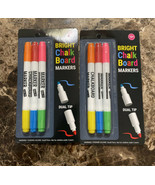 2 D.I.Y Bright Chalk Board Markers - Dual Tip Brand New Free Shipping USA - $13.86