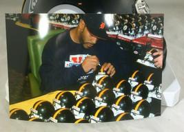 "JEROME BETTIS / NFL HALL OF FAME / AUTOGRAPHED STEELERS MINI HELMET / ""BUS"" HOLO image 7"