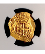 """COLOMBIA 1699 """"DATED!"""" 2 ESCUDOS """"1715 FLEET"""" NGC 63 PIRATE GOLD COINS T... - $12,950.00"""