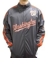 MLB Washington Nationals Men's Big Tall Full Zip Tricot Reflective Track... - $34.95+