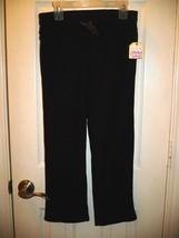 Faded Glory Girls Open Leg Microfleece Sweatpants Black Size Medium 7-8 NEW - $10.88