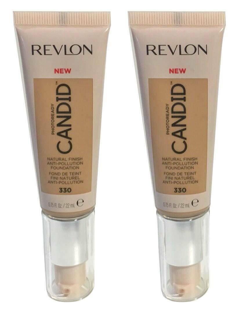 Primary image for Lot of 2, Revlon PhotoReady Candid Anti-Pollution Foundation 330 Light Honey