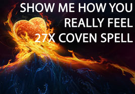 HAUNTED 27X FULL COVEN SHOW ME HOW YOU REALLY FEEL NOW EXTREME MAGICK 98... - $45.77