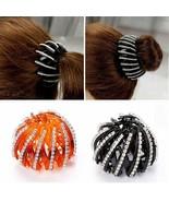 UNIQU® Trendy Crystal Pearl Bud Hair Claws Women's Hair Bun Holder Maker - $4.37+