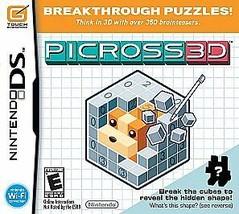 Picross 3D (Nintendo DS, 2010) Brand New - $12.86