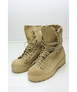 US Military Wellco Desert Tan Men's Combat Boots 6 Wide - $38.00