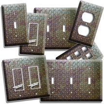 Rusted Industrial Diamond Metal Light Switch Outlet Wall Plate Cover Room Decor - $9.99+