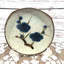 VTG Otagiri Speckled Blue Flower Berries Small Plate Made in Japan - $22.28