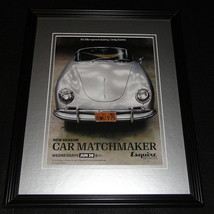 Car Matchmaker 2015 Framed 11x14 ORIGINAL Advertisement Esquire - $32.36