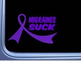 Migraines Suck Purple Ribbon M413 8 inch Sticker decal headache cure - $3.99