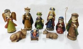 Vtg Kurt Adler Christmas holiday decor resin infant nativity set of 9 figurine - $34.65