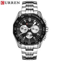 Curren 8077 Fashion Steel Watch Casual Military Sport Men Dress Wristwat... - $55.78