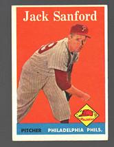 1958 Topps #264 Jack Sanford Phillies Ex - $3.50
