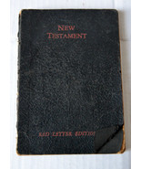 Old New Testament Praying Book Red Letter Edition Jesus Christ Words - $18.99