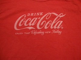 Drink Coca-Cola Enjoy That Refreshing New Feeling retro ad soft Red T Sh... - $17.86