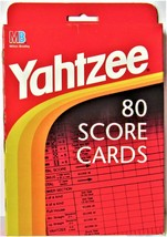 New Yahtzee Score Pads Refill Pack 80 Cards Board Game Hasbro  - $7.91