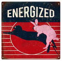 Nostalgic Energized Bunny Advertisement Sign - $25.74