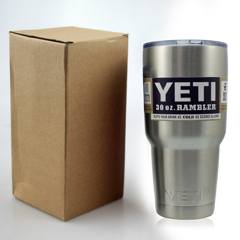YETI TUMBLER RAMBLER 30 OZ STAINLESS STILL COOLER MUG WITH SPLIT-PROOF LID