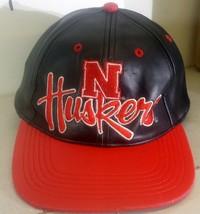University of Nebraska Corn Huskers Leather Snapback Hat Huskers One Size - $14.44