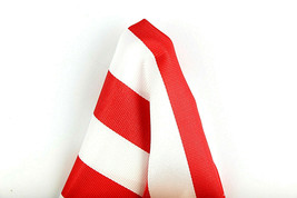 """Men's Pocket Square 10"""" Suit Handkerchief Striped Formal White Red Hanky  - $12.82"""