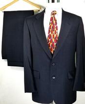 Jos A Bank Suit Size 42 Long 36 x 31 Daniel Two Button Blue Windowpane 1... - $84.10