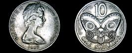 1967 New Zealand 10 Cent World Coin - Elizabeth II - $4.75
