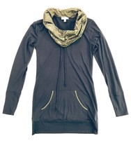 PH8 Bebe Sport Navy Blue & Silver Cowl Neck Top Size Small (MSRP $68) SO... - $12.99