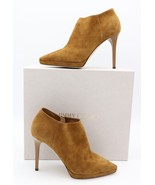 Jimmy Choo Lindsey 100 Brown Suede Platform Point-Toe Shoe Ankle Booties... - $475.00