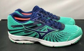 Mizuno Running X10 Wave Sayonara 4 Shoes Teal Navy Blue Womens Size 9 - $44.10