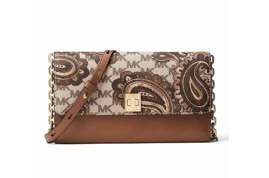 c226ca9c868d39 S l1600. S l1600. Previous. New Michael Kors Women Studio Paisley Natalia  XL Wallet Clutch Crossbody Luggage