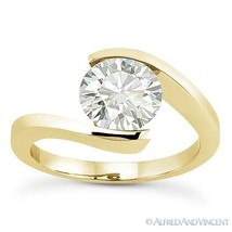 Forever Brilliant Round Cut Moissanite 14k Yellow Gold Solitaire Engagement Ring - €641,59 EUR - €3.400,50 EUR