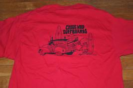 Gallagher Classic Wood Surfboards woody car beach surfer red T shirt XL - $34.99
