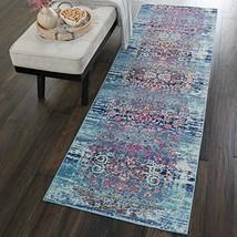 Nourison VKA02 Vintage Kashan Multicolor Boho Area Rug 2' 2'X6' Blue - $50.76